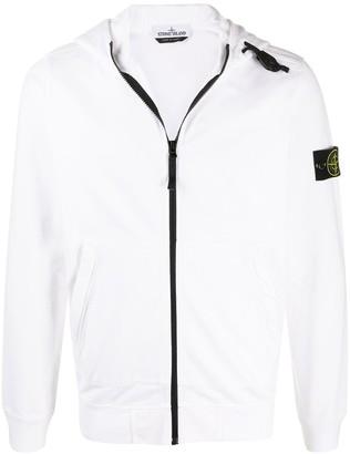 Stone Island Hooded Zip-Front Sweatshirt