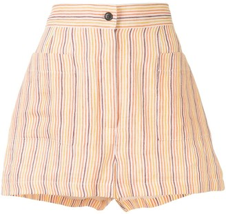 Three Graces Osmo striped print shorts