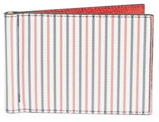 Thom Browne Stripe Leather Money Clip Wallet