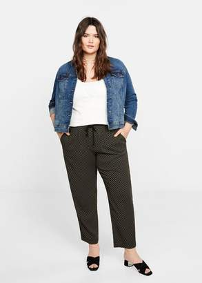 MANGO Violeta BY Printed straight pants navy - XS - Plus sizes