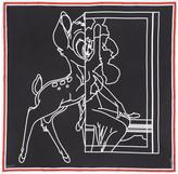 Givenchy Black Bambi Negative Scarf