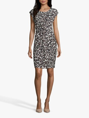 Betty & Co Animal Print Twist Front Shift Dress
