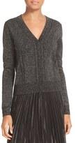 Diane von Furstenberg Adelyn Metallic Knit Cardigan