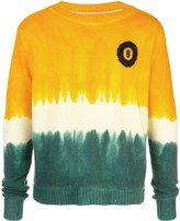 The Elder Statesman dip-dyed 8-Ball cashmere jumper
