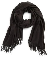 David & Young Fringe Solid Scarf