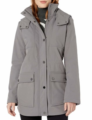 Kenneth Cole New York Women's Mid Length Anorak Jacket with Removable Hood