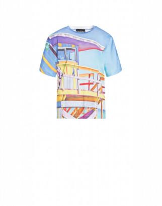 Boutique Moschino Beach Cabin Jersey T-shirt