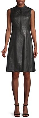 BCBGMAXAZRIA Allexandria Faux Leather Dress