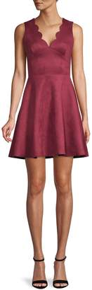 Design Lab Scalloped Fit--Flare Dress