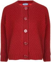Prada cropped chevron knit cardigan