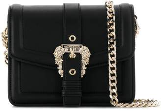 Versace embellished buckle shoulder bag