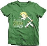 Textual Tees Call Me Zelda One More Time Kids T-Shirt Tee Funny Link Gaming Legend of Tri Force