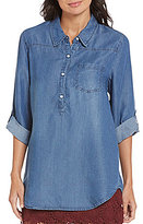 Soulmates Chambray Tunic Top