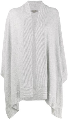 N.Peal cashmere diagonal ribbed cape