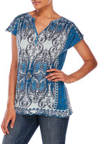 Lucky Brand Mirrored Paisley Top