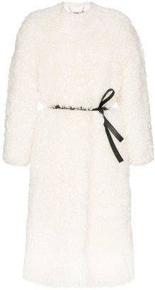 Givenchy shearling belted coat