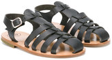 Pépé Vegetale Nero woven sandals - kids - Calf Leather/Leather - 26