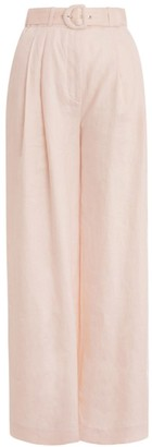Zimmermann Super Eight Wide Leg Trouser in Shell