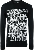 Love Moschino logo print long sleeve sweater