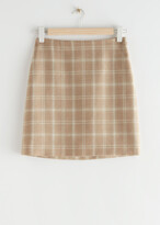 Thumbnail for your product : And other stories Plaid Mini Skirt