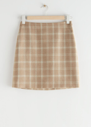 And other stories Plaid Mini Skirt
