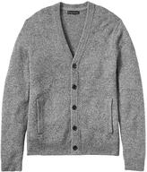 Banana Republic Italian Wool-Silk Blend Tweed Cardigan