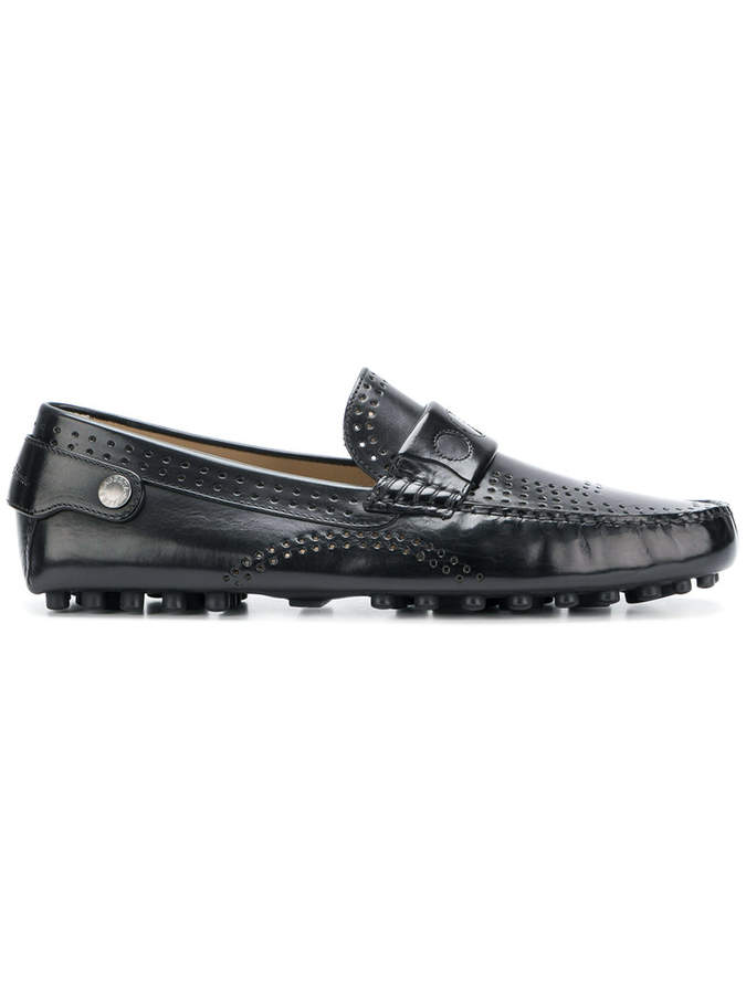 Dolce & Gabbana perforated driving shoe loafers