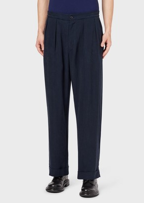 Giorgio Armani Flowing, Darted, Cupro Trousers