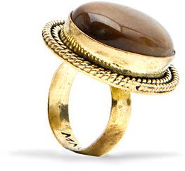 MANGO Oversize stone ring