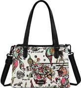 Sakroots Women's Artist Circle Small Convertible Satchel - Optic Songbird Shoulder Bags