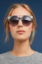 Anthropologie Krystal Cat-Eye Sunglasses