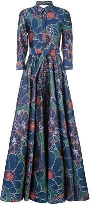 Carolina Herrera floral print gown