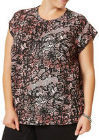 Junarose Plus Hilden Short Sleeve Blouse