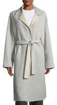 Robert Rodriguez Split-Sleeve Belted Long Wool Wrap Coat