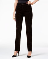Charter Club Lexington Houndstooth Corduroy Straight-Leg Pants, Only at Macy's