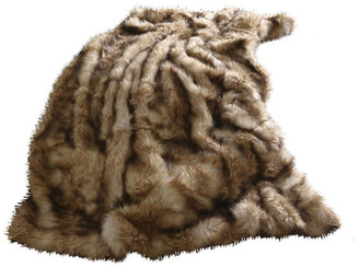 """Best Home Fashion Luxe Faux Fur Throw Blanket, Platinum Frost Fox, 58""""x84"""""""