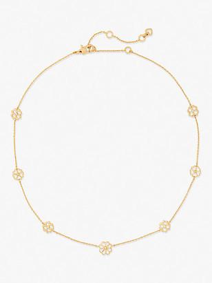 Kate Spade Spade Floral Long Scatter Necklace