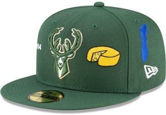 New Era Men's Hunter Green Milwaukee Bucks City Local 59FIFTY Fitted Hat