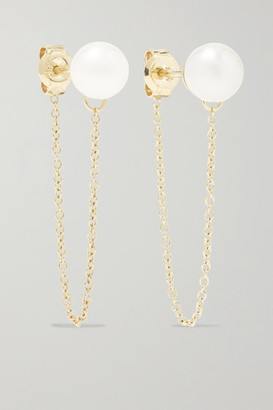 Mateo 14-karat Gold Pearl Earrings - one size