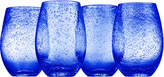 Artland Cobalt Blue Iris Stemless Tumbler - Set of Four
