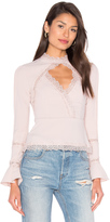 Nicholas Diamond Cut Out Lace Top