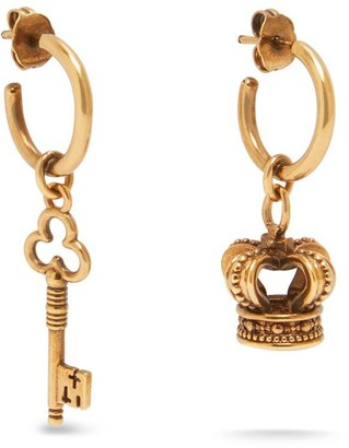 Mulberry Blazon Earrings Antique Gold
