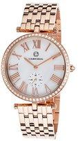Cabochon Women's 16389-RG-22 Carlita Analog Display Quartz Rose Gold Watch
