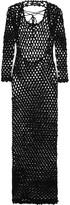 Sibling Metallic crocheted maxi dress