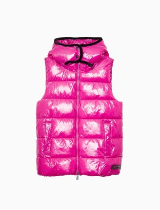 Calvin Klein Performance Shine Padded Full Zip Hooded Vest