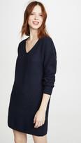 Madewell V Neck Mini Sweater Dress