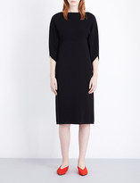 Jil Sander Draped stretch-crepe dress