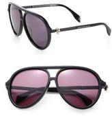 Alexander McQueen 59MM Oversized Aviator Sunglasses