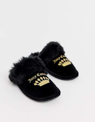 Juicy Couture slippers-Black