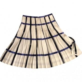 Celine White Silk Skirt for Women